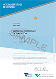 thumbnail size of Sample VCE Replacement Certificate